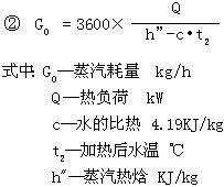 西门热水机械SEMEM HJ型浸没式汽水混合器 选型公式2