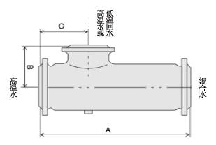 SSH水水混合加热器 外形尺寸