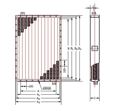 SRL钢铝复合散热参数