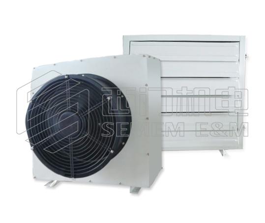 1.S型暖风机采用铝制冷轧螺旋光滑翅片换热管,新型鸟翼式轴流风机,热效率高,噪音低; 2.S型暖风机冷暖兼用; 3.S型暖风机是工况企业和大型公共建筑供暖、降温的理想设备; 4.S型暖风机适用介质:热水,冷水,工作压力:0.4MPa。 二、S型暖风机技术参数  表1:S型暖风机基本参数表